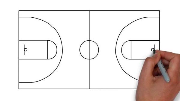 Как нарисовать баскетбольную площадку - Шаг 8