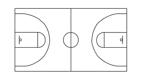 Как нарисовать баскетбольную площадку