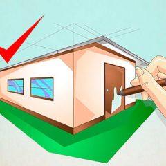 Как нарисовать объемный дом