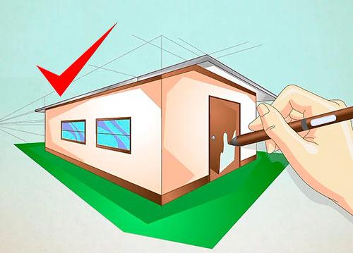 Рисуем объемный дом - Шаг 10 - Раскрасьте ваш дом