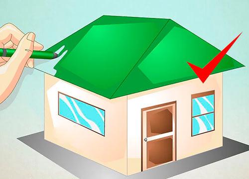 Объемный дом из куба - Шаг 6 - Раскрасьте его