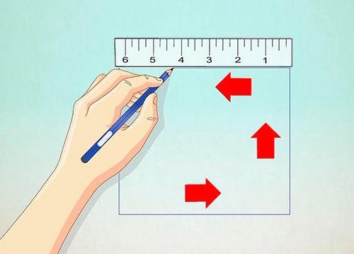 Объемный дом из квадрата - Шаг 1 - Нарисуйте квадрат