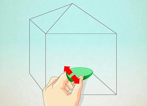 Объемный дом из квадрата - Шаг 6 - Сотрите ненужные линии