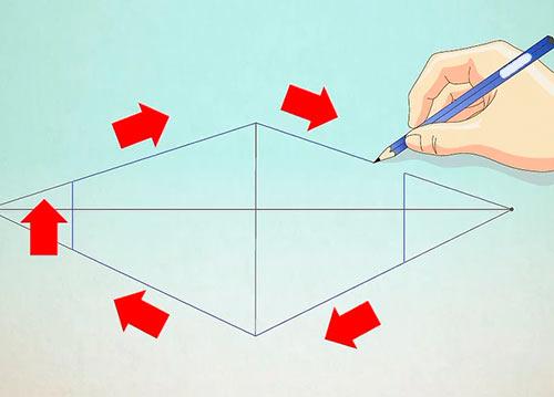Рисуем объемный дом - Шаг 4 - нарисуйте внешний контур