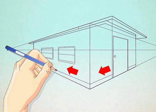 Рисуем объемный дом - Шаг 9 - Добавьте больше мелких деталей