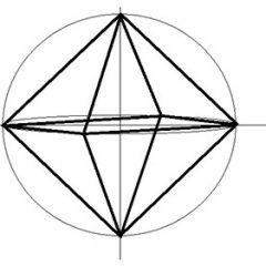 Как нарисовать октаэдр поэтапно