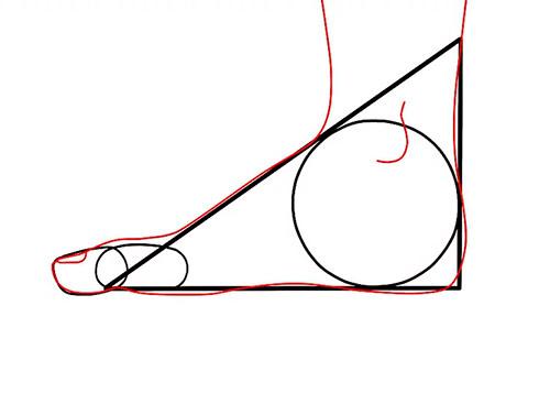 Рисуем ступню - вид сбоку - Шаг 4