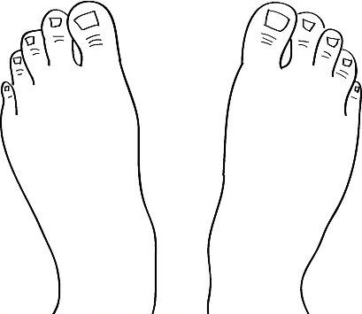 Рисуем две ступни - вид сверху - Шаг 8