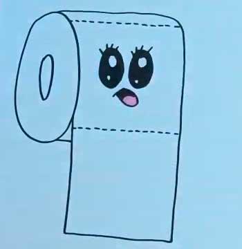Как нарисовать туалетную бумагу