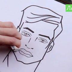 Как рисовать мужские губы