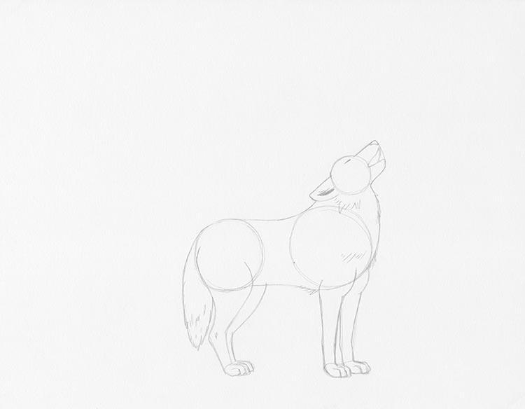Шаг 4: Нарисуйте рот(пасть) волка