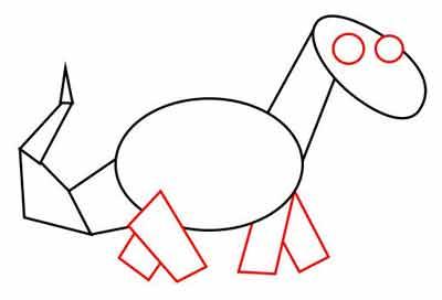Мультяшный динозавр 4