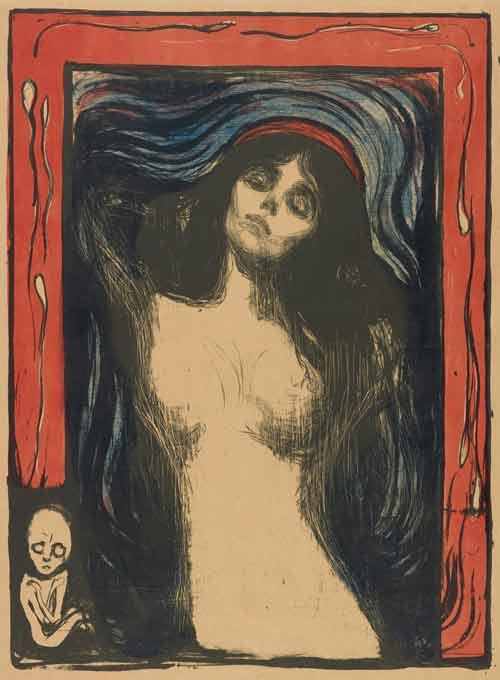 "Эдвард Мунк, ""Мадонна"", литография, 1895/1902. Музей Мунка."