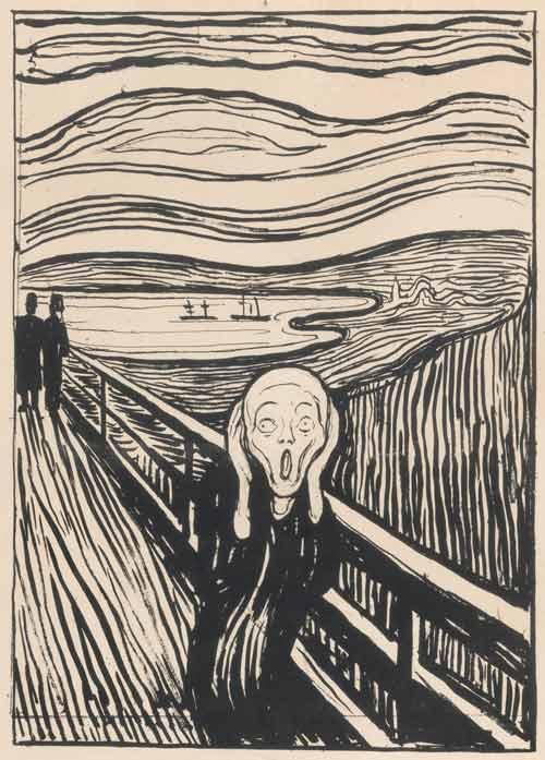 """""""Тот самый крик"""", литография, 1895"""