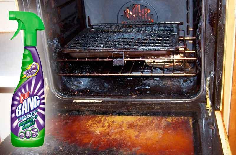 «Cillit Bang Антижир» для чистки духовки от жира и нагара