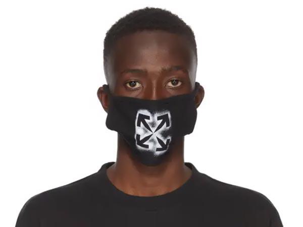 off white черная трафаретная маска