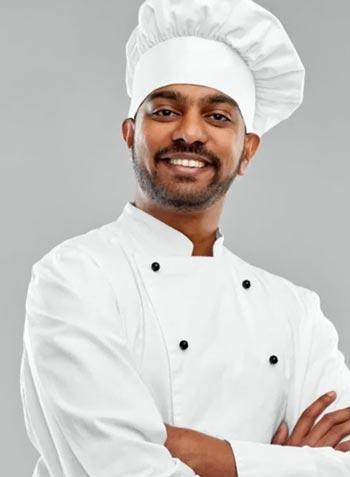 Южноазиатский мужчина шеф повар