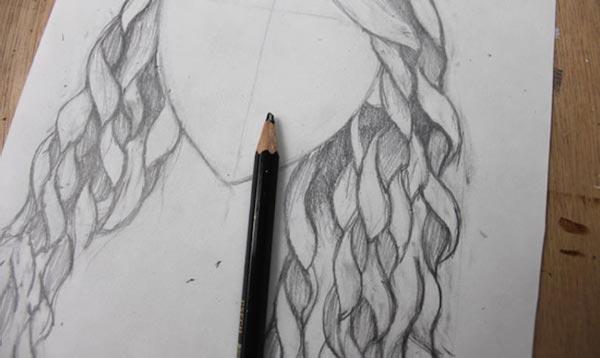 Как нарисовать кудри: шаг 5а