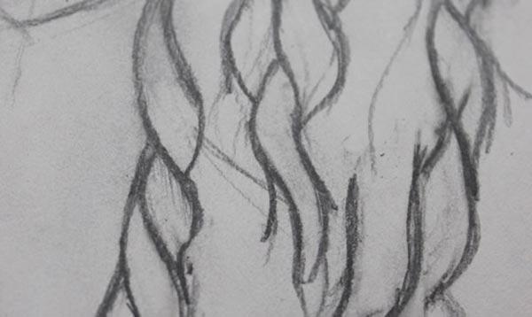 Как нарисовать кудри: шаг 4б