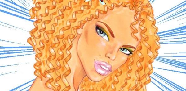 Как нарисовать вьющиеся волосы поэтапно
