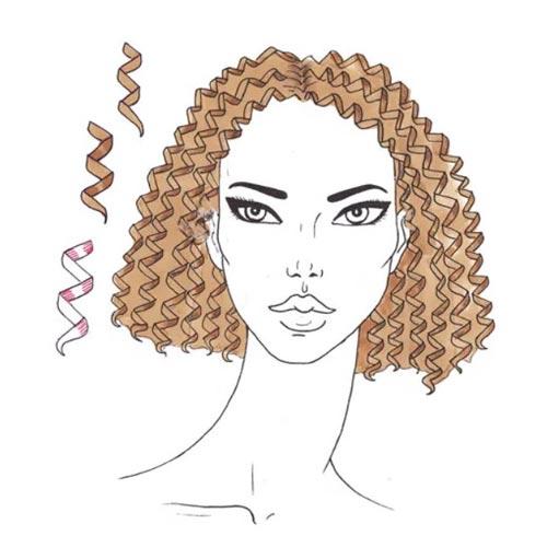 Как нарисовать вьющиеся волосы поэтапно шаг 9