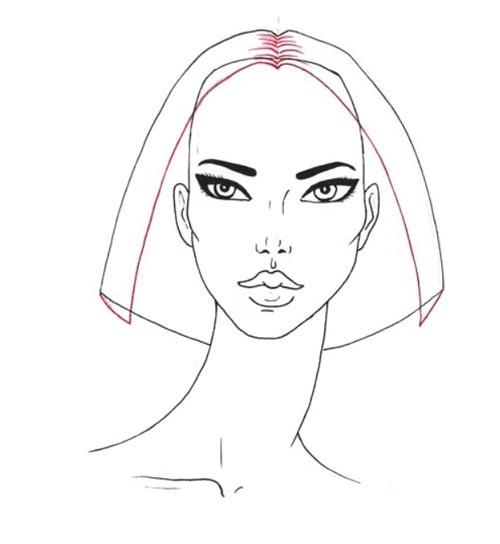 Как нарисовать вьющиеся волосы поэтапно шаг 3