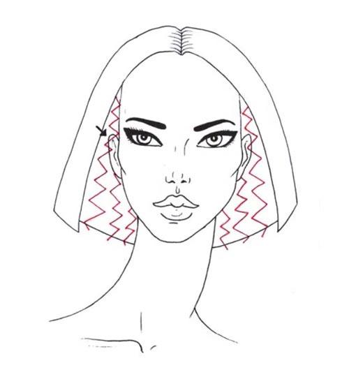 Как нарисовать вьющиеся волосы поэтапно шаг 4