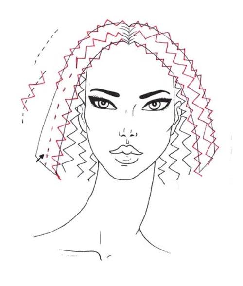 Как нарисовать вьющиеся волосы поэтапно шаг 5
