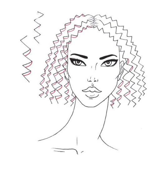 Как нарисовать вьющиеся волосы поэтапно шаг 6