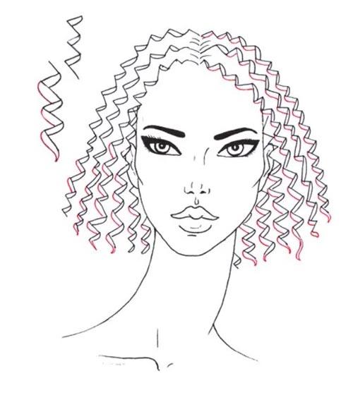 Как нарисовать вьющиеся волосы поэтапно шаг 7