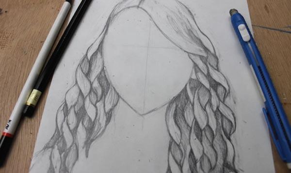 Как нарисовать кудри: шаг 5б