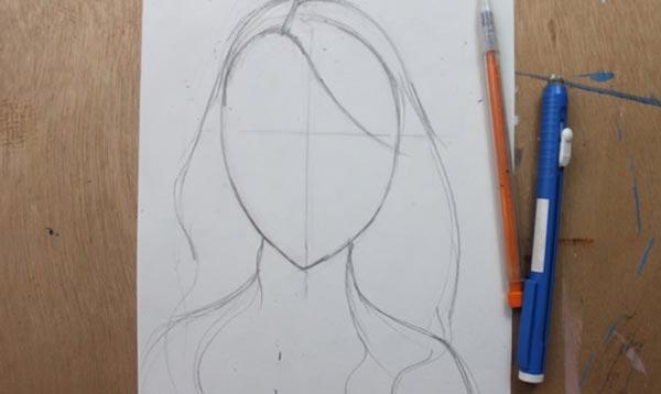 Как нарисовать кудри: шаг 2