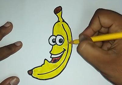 Как нарисовать банан - Шаг 15
