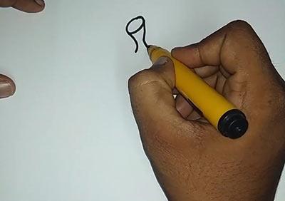 Как нарисовать банан - Шаг 2