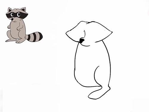 Как нарисовать енота - Шаг 10