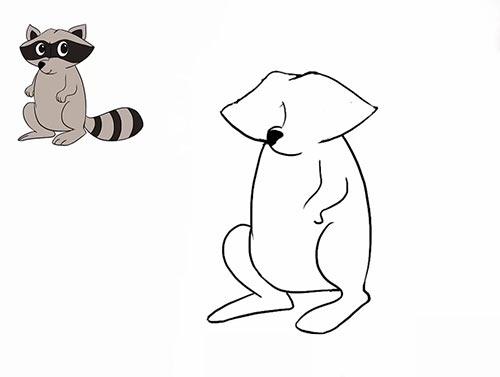 Как нарисовать енота - Шаг 12