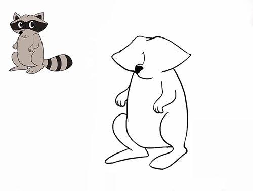 Как нарисовать енота - Шаг 14