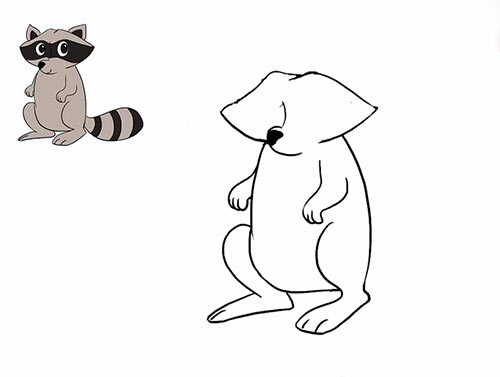 Как нарисовать енота - Шаг 15