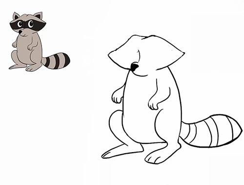 Как нарисовать енота - Шаг 16