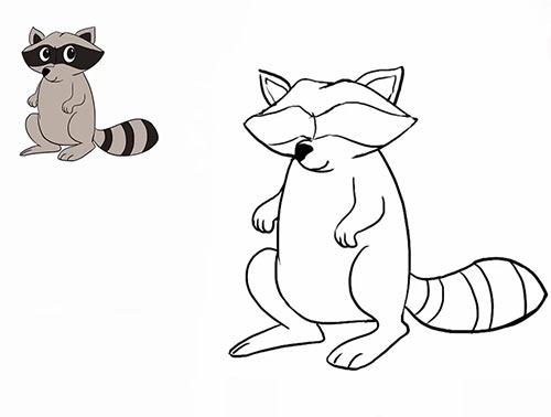 Как нарисовать енота - Шаг 18