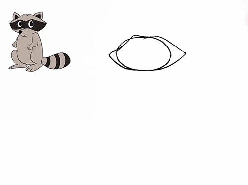 Как нарисовать енота - Шаг 3