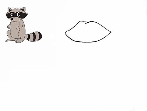 Как нарисовать енота - Шаг 4