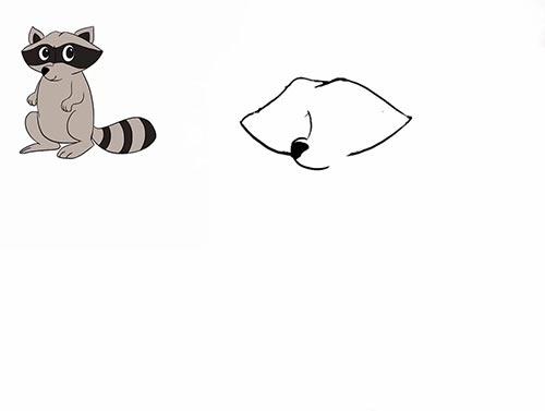 Как нарисовать енота - Шаг 7
