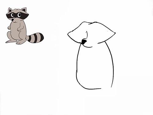Как нарисовать енота - Шаг 8