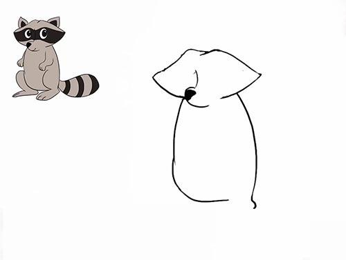 Как нарисовать енота - Шаг 9