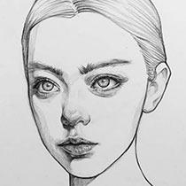Как нарисовать лицо поэтапно карандашом - основные правила, фото идеи и примеры