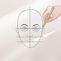Как нарисовать женское и мужское лицо