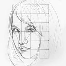 Рисуем детали лица: Полное руководство для начинающих - глаза, нос, рот, подбородок, губы, усы, борода