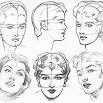 Как нарисовать человеческое лицо карандашом поэтапно для начинающих