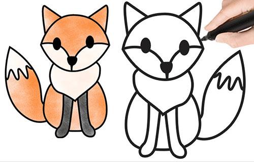 Как нарисовать лису легко и просто, красиво карандашом поэтапно для детей
